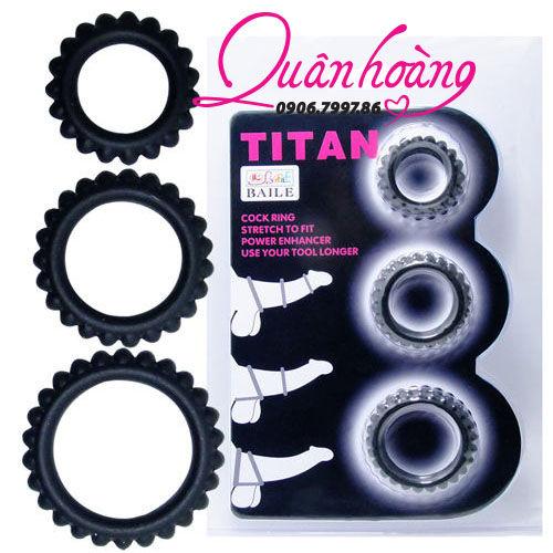 Vòng đeo dương vật Titan thần thánh 3 vị trí