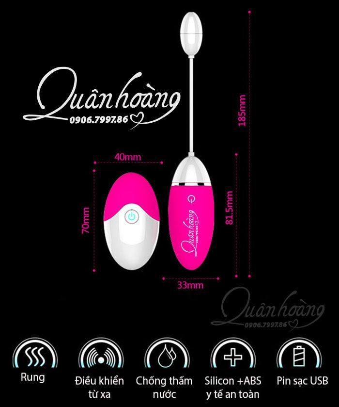 Thông tin chi tiết trứng rung Evo tỏa nhiệt điều khiển từ xa